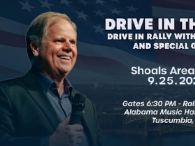 Drive in the Vote with Senator Doug Jones in the Shoals!