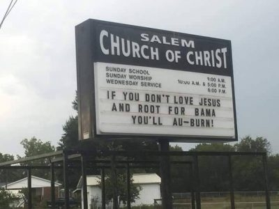 Athens Church Reader Board...